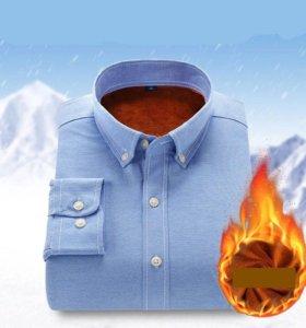 Зимняя рубашка с подкладом