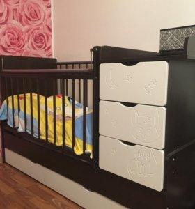 Детская кровать(трансформер)