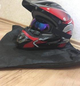 Кроссовый шлем новый