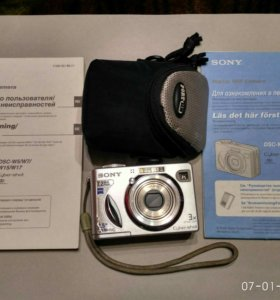 Фотоаппарат Sony Cyber-Shot dsc-W7