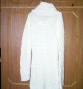 Платье вязаное с поесом