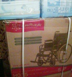 Коляска инвалидная и памперсы для взрослых