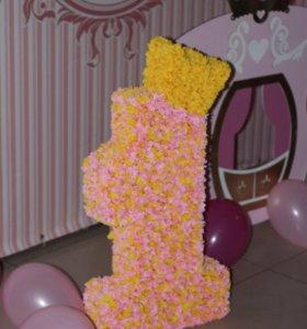Единичка на день рождения принцессы