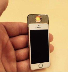 USB зажигалка в форме телефона iPhone 7