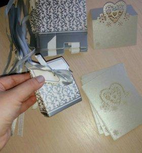 Свадебные коробочки и карточки для столов
