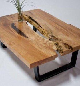 Стол из цельного массива дерева