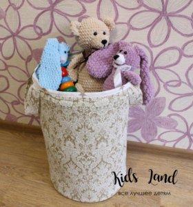 Текстильная корзина для игрушек