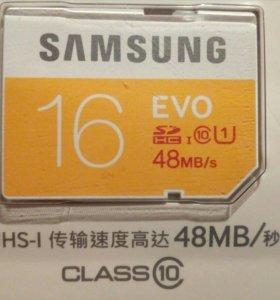 Карта памяти Samsung EVO 16Гб