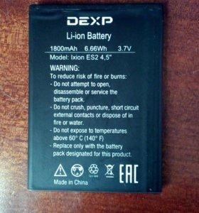 Аккумулятор на Dexp
