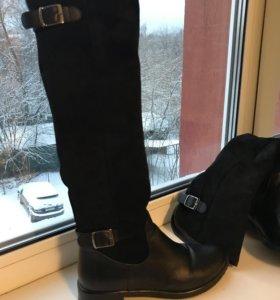 Итальянские сапоги новые зима