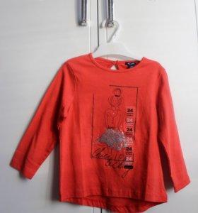 Новая хлопковая футболка на девочку