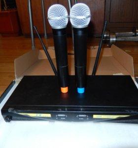 ICM радиосистема IU-2072- два микрофона на базе
