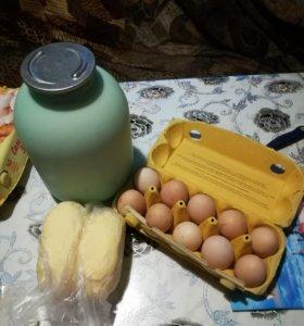 Масло молоко яйца домашнее