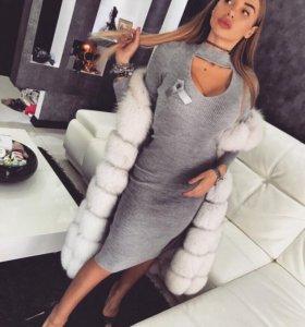 Платье теплое