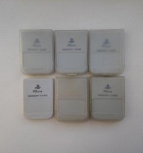 Оригинальные японские карты памяти PlaystationOne
