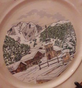 Тарелка декоративная Альпы