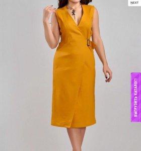 Платье новое 100% лён