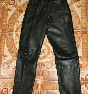 Крутые кожаные натуральные джинсы,брюки,штаны