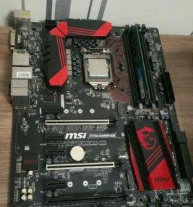 Msi z170a gaming m5 Intel i7 6400t 8gb озу