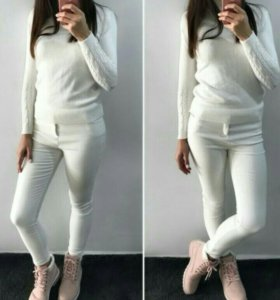 Утеплённые белые штанишки