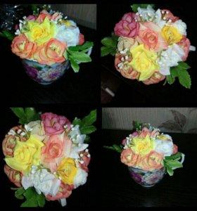 Кружка с цветами