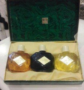 Малахитовая шкатулка набор парфюма СССР