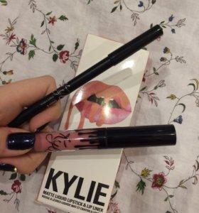 Набор помада + карандаш Kylie