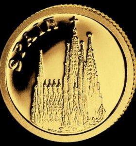 Монета 12 $ Испания золото