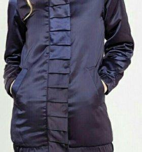 Бомбер куртка теплая