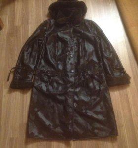 Зимнее женское пальто р 60