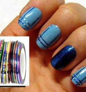 Набор для ногтей (10 цветов,ленточка)