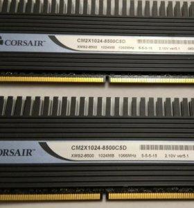 2 * 1024mb DDR2 Corsair