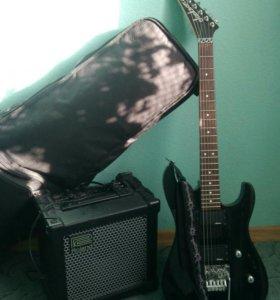 Продам гитару Jackson+кубик+чехол