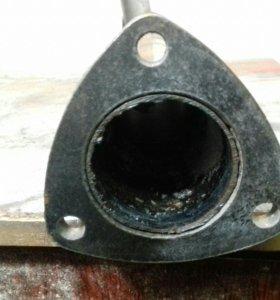 Вставка место катализатора ваз 2107