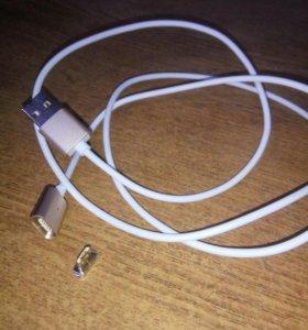 Магнитный кабель для зарядки microUSB