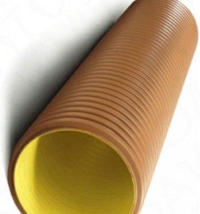 Трубы двухслойные канализационные гофрированные
