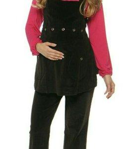Новый комплект для беременных, брюки и жилетка
