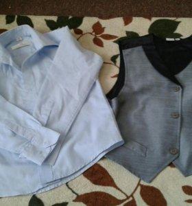 Желетка и рубашка