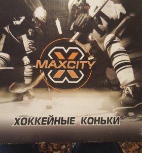 Новые Коньки хоккейные MaxCity Detroit