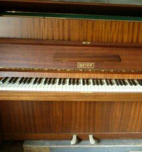 Гейер - кабинетное пианино. Цвет палисандр матовое
