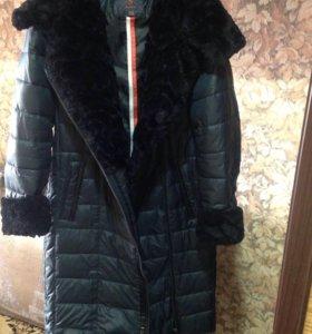 Стёганное пальто дутик