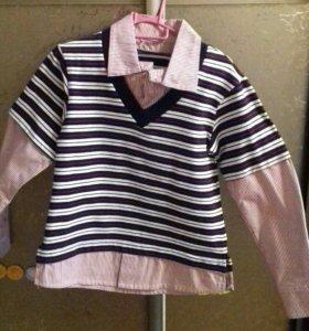 Детский джемпер -рубашка