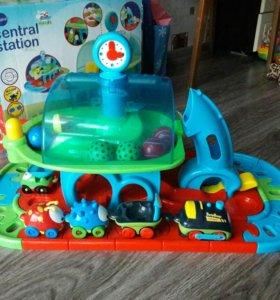 Железная дорога поезд станция для малышей