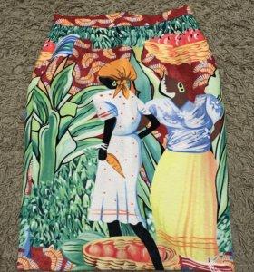 Комплект юбка с баской и кофточка. Эксклюзив