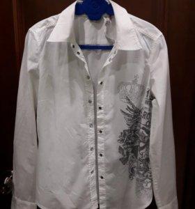 Фирменная белая рубашка р. 46-48