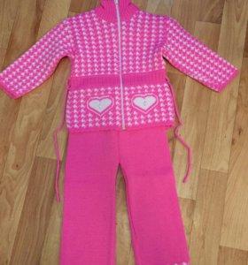 Зимний детский костюмчик для девочки