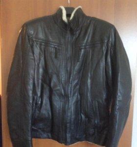 Куртка мужская. Натуральный мех и кожа