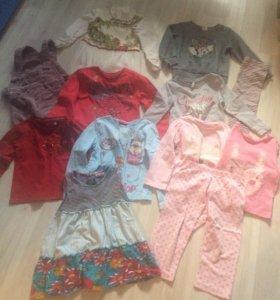 Вещи пакетом на девочку 2-3 года