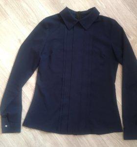 Блуза темно синяя