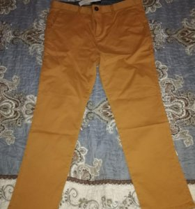 Брюки-тонкие джинсы